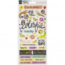 Adesivo - Vicki Boutin Color Study Cardstock Stickers Icon & Phrase W/Foil Accents