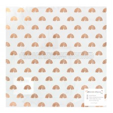 Papel vegetal - Magical Forest Printed Vellum Dreamer W/Copper Foil Accents