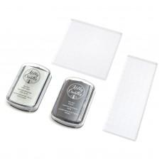 Kit carimbeira e blocos de acrilico - Kelly Creates Ink Pad & Stamp Block Set