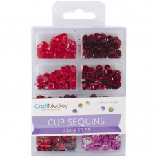 Paetes - Cup Sequins 7mm Rouge