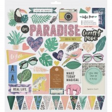 Adesivo chipboard - Wild Heart Chipboard Stickers  W/Gold Holographic Foil Accents