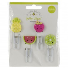 Clips  - Doodlebug Jelly Clips 4/Pkg Tutti Fruities