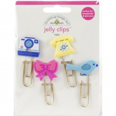 Clips  - Doodlebug Jelly Clips 4/Pkg Hello