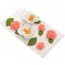 Flores - American Crafts Pocket Frames Felt Flowers 12/Pkg Style #1