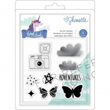 Carimbo - Shimelle Head In The Clouds Clear Acrylic Stamps Icons