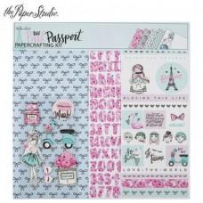 Kit de papel - The Pink Passport Scrapbook Kit