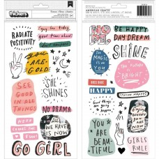 Adesivo - All Heart Thickers Stickers 54/Pkg Phrase & Icons/Puffy