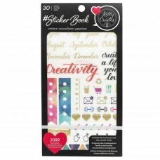 Adesivo - American Crafts Sticker Book Kelly Creates W/Gold Foil