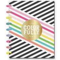 Caderno de disco - Happy Planner Medium Notebook  Sheets Live Colorfully