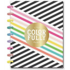 Caderno de disco - Happy Planner Medium Notebook  Sheets Live Colorfully