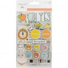 Adesivo chipboard - Project Life Chipboard Stickers Project 52 Rad
