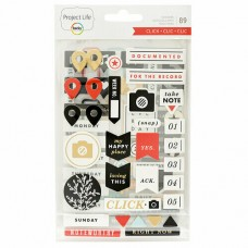 Adesivo chipboard - Project Life Chipboard Stickers Click Edition