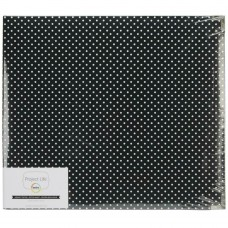 Álbum American Crafts - Project Life Glossy D-Ring Album Midnight Edition - Dots