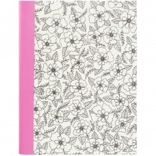 Caderno - Hall Pass Adult Coloring Composition Notebook  Floral