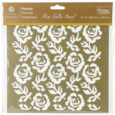 "Stencil - Couture Creations Arabesque Stencil 8""X8"" Rose Trellis"