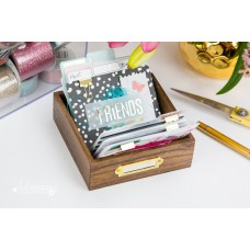 Álbum de Mesa - Heidi Swapp Memorydex Card Wood  Tray