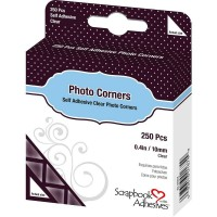 Cantoneira - Scrapbook Adhesives Photo Corners Self-Adhesive Transparente