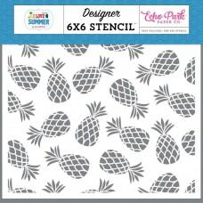 Stencil - Echo Park Stencil  Pineapple Paradise