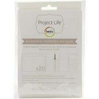 Plástico - Project Life Photo Fuse Sleeves 20/Pkg 10x15cm