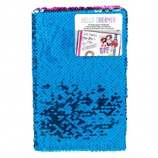 Caderno - American Crafts Hello Dreamer Sequined Notebook-Mermaid