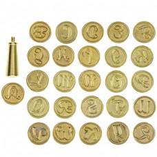 Kit de alfabeto - Alphabet Wax Seal Kit