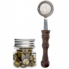 Kit cera e colher - Gold Wax Bead & Spoon Set
