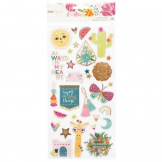 Adesivo chipboard - Dear Lizzy New Day Chipboard Stickers 30/Pkg