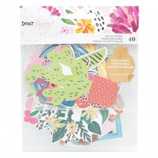 Recortes em cardstock - Dear Lizzy New Day Ephemera Cardstock Die-Cuts 40/Pkg