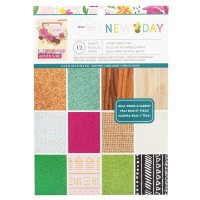 Bloco de Papel - American Crafts Mixed Media Paper Pad  Dear Lizzy, New Day