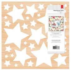 Página de madeira - Star Wood Veneer Embellishments