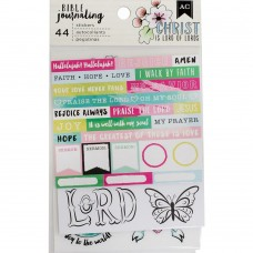 Adesivo - American Crafts Bible Journaling Stickers Watercolor
