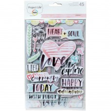Adesivo chipboard - Project Life Chipboard Stickers Inspire Edition