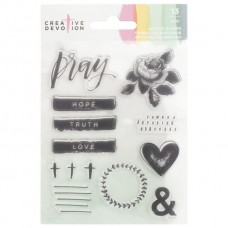 Carimbo - Creative Devotion Clear Acrylic Stamps  Pray