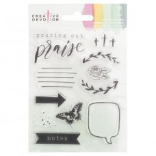 Carimbo - Creative Devotion Clear Acrylic Stamps  Praise