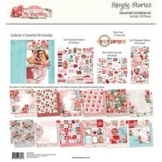 Kit de papel - Simple Stories Collector's Essential Kit My Valentine