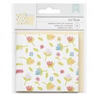 Cartão com envelope - Little flowers