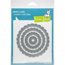 Faca de corte - Lawn Cuts Custom Craft Die Stitched Scalloped Circle Frames