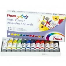 Aquarela - Pentel Watercolor Paints 5ml 12/Pkg Assorted Colors