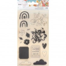 Carimbo - Dear Lizzy She's Magic Acrylic Stamps 19/Pks