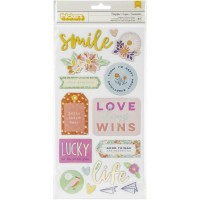 Adesivo - Dear Lizzy She's Magic Thickers Stickers  Delightful Phrase & Icons/Chipboard