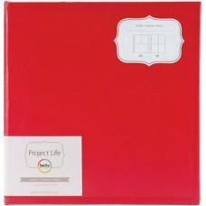 Álbum - Project Life Classic Faux Leather D-Ring Album  Cherry