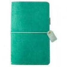 Diário de viagem - Color Crush Traveler's Notebook Planner  Aspen Green Suede