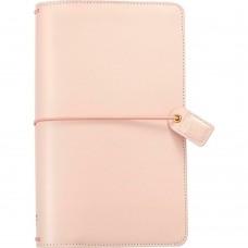 Diário de viagem - Color Crush Traveler's Notebook Planner Blush Pink