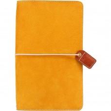 Diário de viagem - Color Crush Traveler's Notebook Planner  Mustard Suede