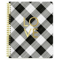 Caderno - My Happy Place Composition Spiral Notebook  Plaid