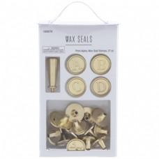 Kit de Selo com alfabeto  - Alphabet Wax Seal Stamps