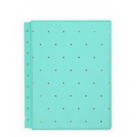 Capa para Happy Planner - Snap-In Cover - Turquoise / Gold Dots