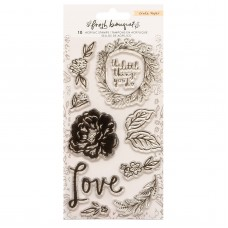 Carimbo - Fresh Bouquet Acrylic Clear Stamps