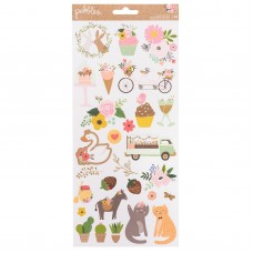 Adesivo - Lovely Moments Cardstock Stickers Icons W/Gold Foil Accents
