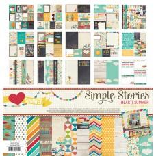 Kit de papel - Simple Stories Collection kit I heart summer
